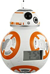 Bulb Botz 'Star Wars' Plastic Alarm Clock, Color:White/Orange (Model: 2020503)