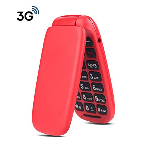 Ushining 3G Unlocked Senior Flip Phone Large Icon Cell Phone Easy to Use Flip Phones for Seniors and Kids AT&T Prepaid…