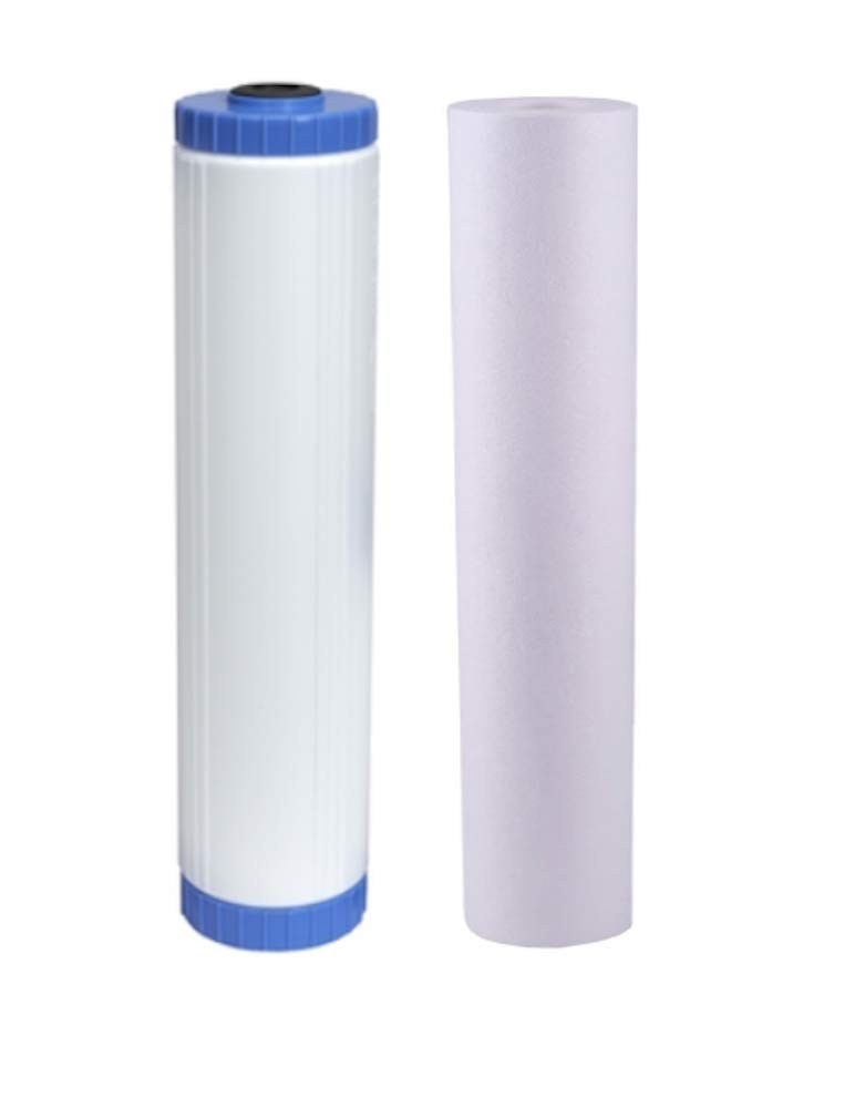 GREAT FOR REMOVING HYDROGEN SULFIDE Catalytic Carbon//KDF-85 20 x 4.5 Cartridge Filter Big Blue