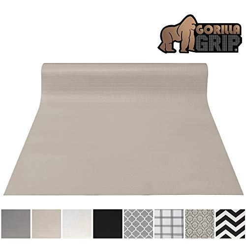 Gorilla Grip Original Smooth Top Slip-Resistant Drawer and Shelf Liner, Non Adhesive Roll, 17.5 Inch x 20 FT, Durable Kitchen Cabinet Shelves, Liners for Kitchens Drawers and Desks, Taupe (Best Stain For Kitchen Cabinets)