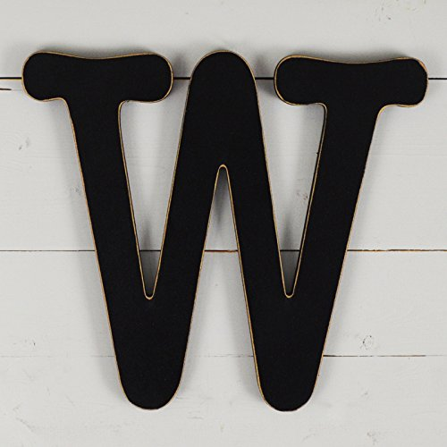 11.5'' Typewriter Wall Decor Letter ''W''- black