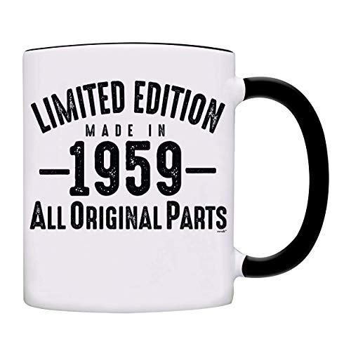 Mug 1959-60th Birthday Gifts Limited Edition Made In 1959 All Original Parts Coffee Mug-1959-0071-Black