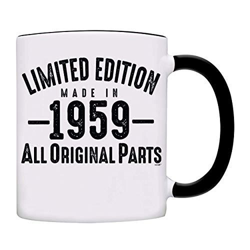 (Mug 1959-60th Birthday Gifts Limited Edition Made In 1959 All Original Parts Coffee Mug-1959-0071-Black)