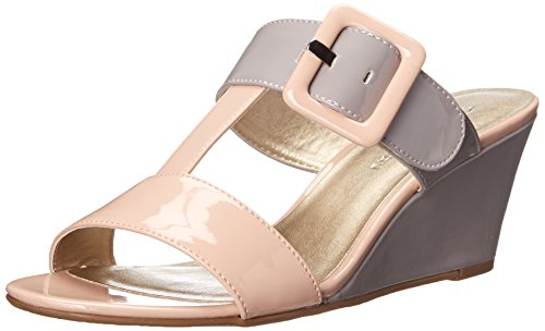 CL by Chinese Laundry Women Talli Wedge Sandal Pink/Grey Patent