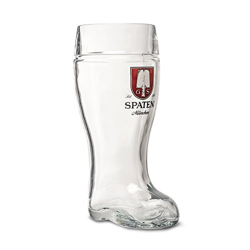 Spaten Munchen 1-Liter Glass German Beer Boot (Beer Spaten)