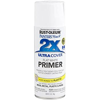 Rust-Oleum 249058 Painter's Touch Multi Purpose Spray Paint, 12-Ounce, White Primer