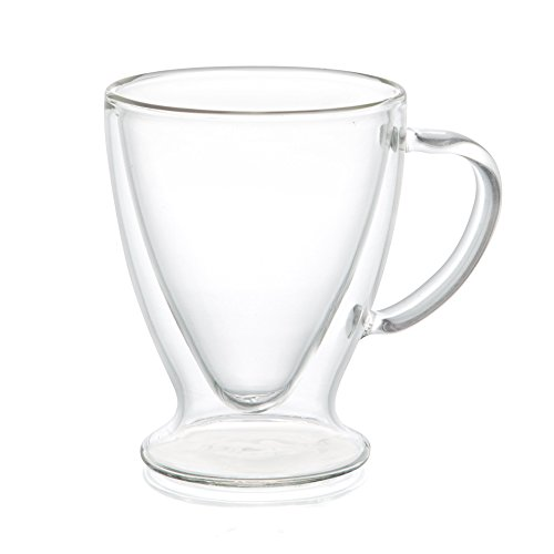 JoyJolt Declan Irish Glass Coffee Cups Double Wall Insulated Mugs Set of 2 Latte Glasses, 10-Ounces. by JoyJolt (Image #1)
