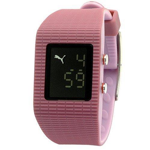 Puma Time - Reloj digital de cuarzo para mujer con correa de caucho, color rosa: Amazon.es: Relojes