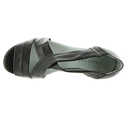 Womens lamb Strappy Toe SWELL Black David Casual Leather Open Tate Sandals Bq54xP