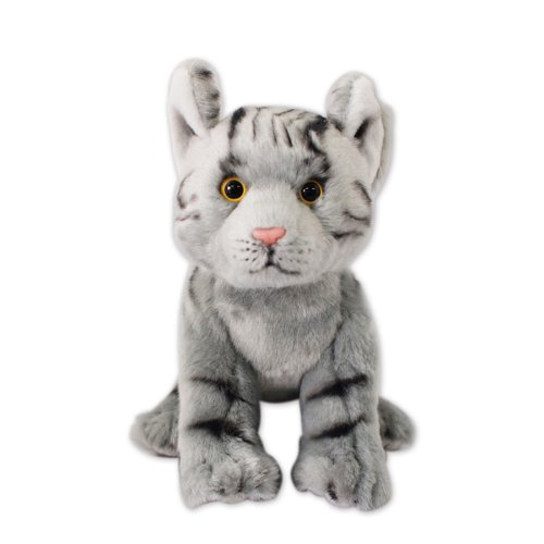 Nat and Jules Playful Small Tabby Cat Children's Plush Stuffed Animal Toy from DEMDACO