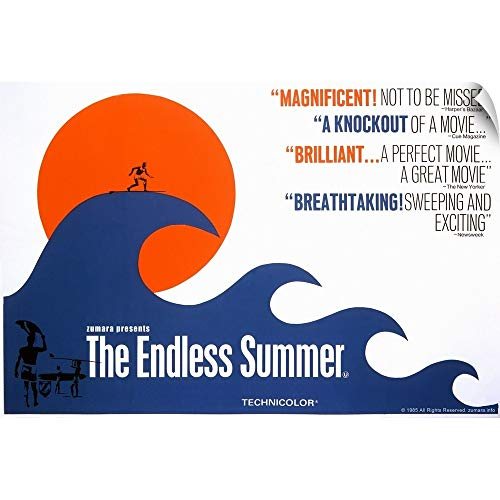 CANVAS ON DEMAND Endless Summer Wave Wall Peel Art Print, 24