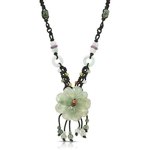 Cherry Blossom Flower Handmade Jade Necklace