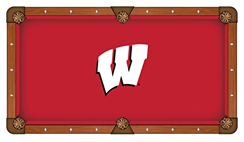 - Holland Bar Stool Co. Wisconsin Badgers HBS Red with White W Logo Billiard Pool Table Cloth (9')