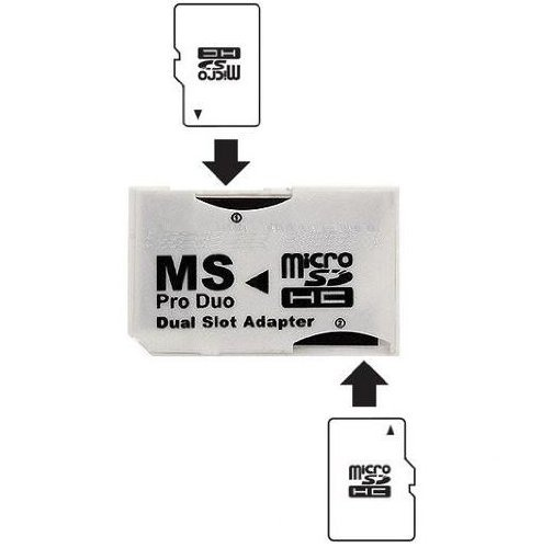 Psp Card (Ebest White Dual Slot PSP Memory Stick Pro Duo Adapter)