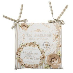 ANGELICA HOME & COUNTRY CUSCINO PER SEDIA VINTAGE ROSE VERDE: Amazon ...