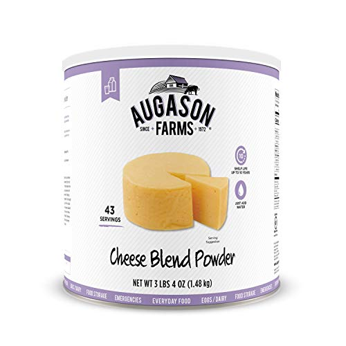 Augason Farms Cheese Blend Powder Certified Gluten Free Long Term Food Storage Everyday Meal Prep Large Can (Best Way To Freeze Mozzarella Cheese)