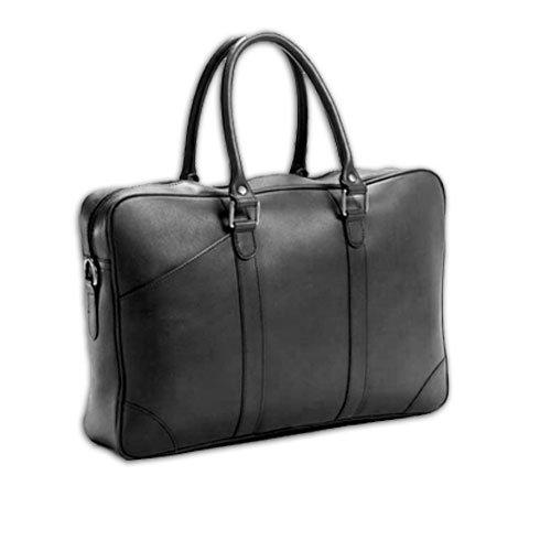 (Bridle Slim Top Handle Leather Laptop Briefcase Color: Bridle Cognac)