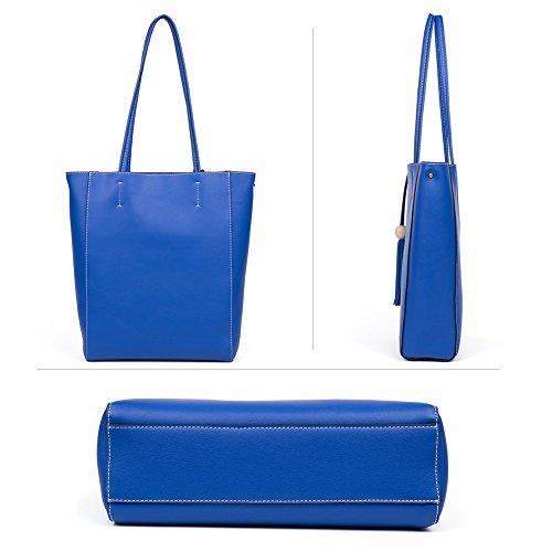 2 à Véritable Bandoulière Cuir à bleu Sac Main Sac Porté BOSTANTEN Sac Cabas Épaule Sac Marron Femme A4IwqIZ