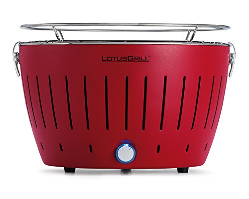LotusGrill Holzkohlengrill Serie 340, Farbe feuerrot, 35 x 35 x 23,4