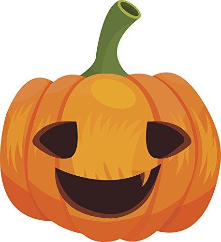 Cute Halloween Cartoon Pen Art - Pumpkin Jack O Lantern Vinyl Decal Sticker (12