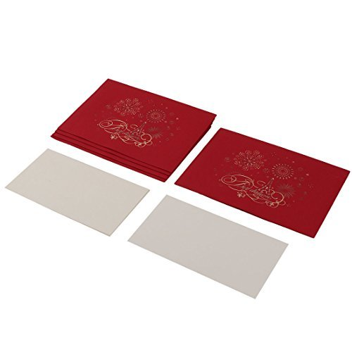 eDealMax Feux d'artifice en Papier Motif fte de Mariage Rectangle Dner Carte d'invitation 5 Ensembles