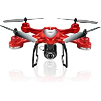 Owill S30W 2.4GHz GPS FPV RC Drone Quadcopter with 720P HD Camera Wifi Headless Mode, Wifi FPV transmission distance: About 50m (Red)