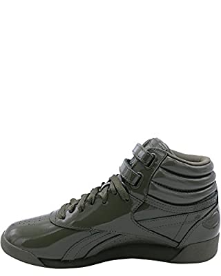 Reebok Women's Freestyle Hi Patent Sneaker,Hunter/Green,6