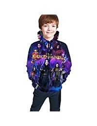 JamesMMika Descendants 3 Unisex Youth Boys Girls Casual Pullover Hoodies Hooded Seatshirts Tops Blouse with Pocket