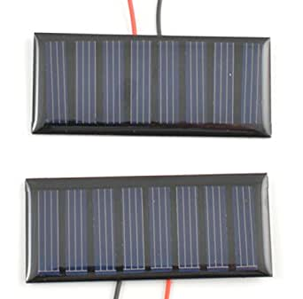 Amazon Com Small Solar Panel 4 0v 50ma With Wires 2