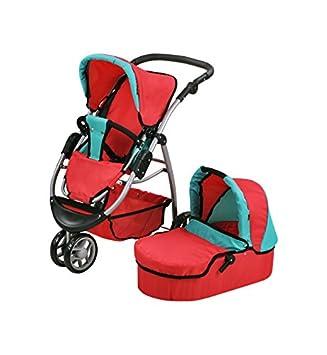Amazon.es: Knorrtoys 90445 - Carrito de muñecas Cico - Red Green: Juguetes y juegos
