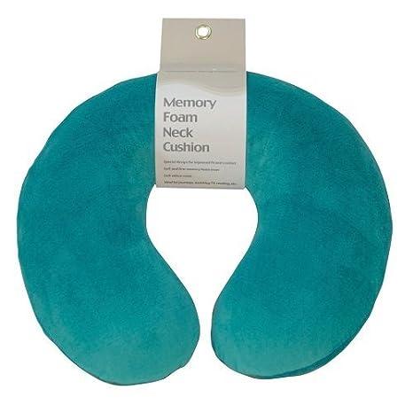 Aidapt VM936AT - Cojín De Espuma Para El Cuello Memory Foam - Azul Turquesa Azul turquesa