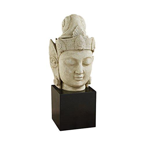 Design Toscano The Asian Goddess Yuan-Yin Sculptural Bust, Gothic (Asian Design)