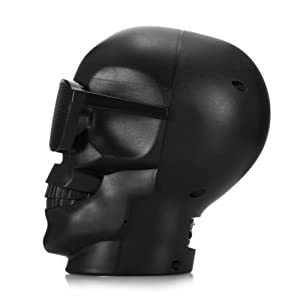 WJM Skull Wireless MP3 Speaker Ghost Amplifiers Protable Bluetooth Evil Home Speakers Demon Belial Adult Toys Stereo Bass Sound Best Christmas Saints Gifts for Kids Men Boys Girls Women -Black