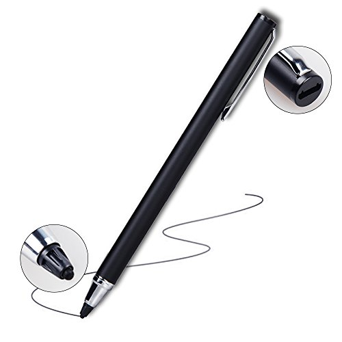 Digital Stylus Pen,AVEDIO LINKS Adjustable & Rechargeable Active Sense Stylus Digital Pen with 1.9mm Capacitive Fibre Fine Tip for iPad, iPhone, Android Tablet and More Touch Screen Devices-Black by avedio links