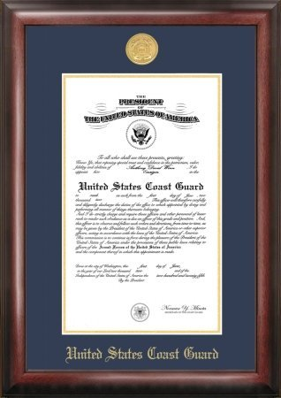 Patriot Frames Coast Guard Commission Frame Medallion, Gold by Patriot