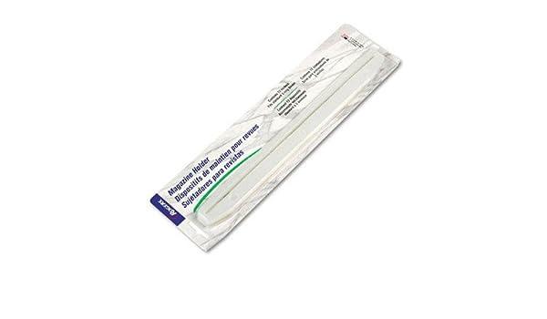 5 Pack de 12 soportes de plástico borde tira revista con 3 orificios para carpeta de anillas (rub02802): Amazon.es: Amazon.es