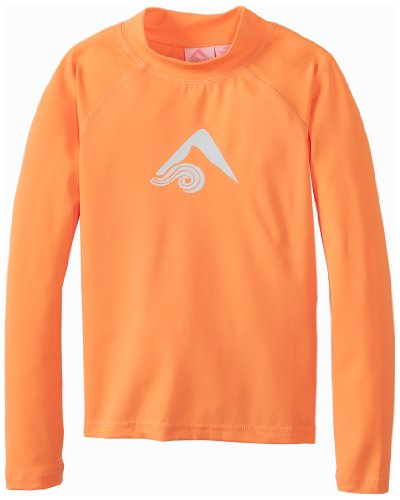 Kanu Surf Big Girls'  Keri Long Sleeve Rashguards, Orange, Medium (10)