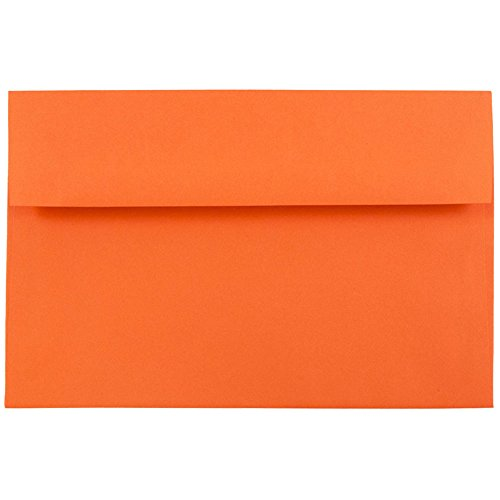 - JAM PAPER A8 Colored Invitation Envelopes - 5 1/2 x 8 1/8 - Orange Recycled - 25/Pack
