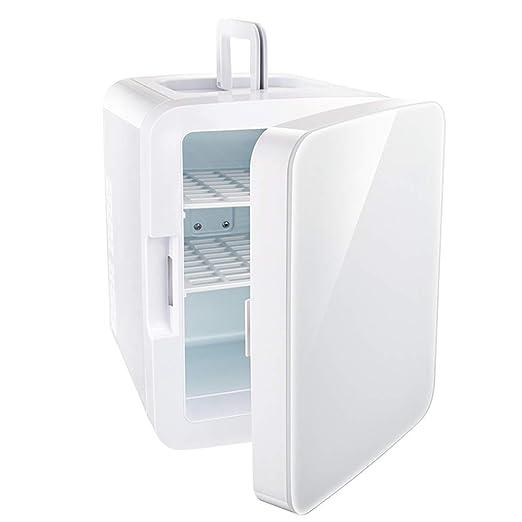 DLYDSS Mini Refrigerador con Puerta De Vidrio Templado ...