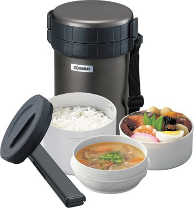 Zojirushi Thermal Stainless Lunch Box BENTO BAKO | SL-XB20-HG Gunmatallic (Japan Import) by Zojirushi