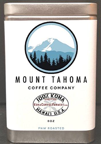 - The Best Fresh Roast to Order Certified 100% Kona Coffee - 8 Ounce Metal Tin (Ground)