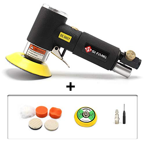 2inch 3inch Mini Air Sander Mini Orbital Air Sander Air Dual Action Sander Air Polisher Kit for Auto Body Work (Black 2''3''air sander)