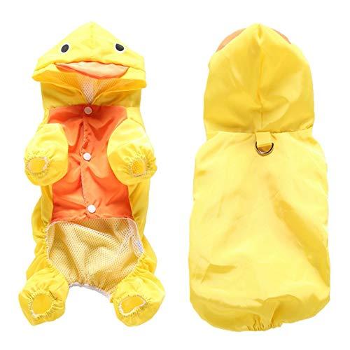 Hengzhi Pet Hooded Raincoat Double Layer Rabbit, Frog, Duck, Shark Small Animal Series Raincoat