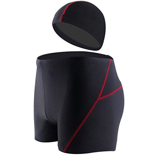 BUKUANG Uomini Adulti Nuoto Costume Da Bagno Gli Occhiali Di Protezione Di Miopia Del Vestito Della Protezione Pugile Grandi Sorgenti Di Acqua Calda Di Costumi Da Bagno Dimensioni 5 Attrezzature,A-XL