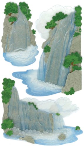 Dimensional Waterfall - Jolee's Le Grande Dimensional Stickers-vellum Waterfall