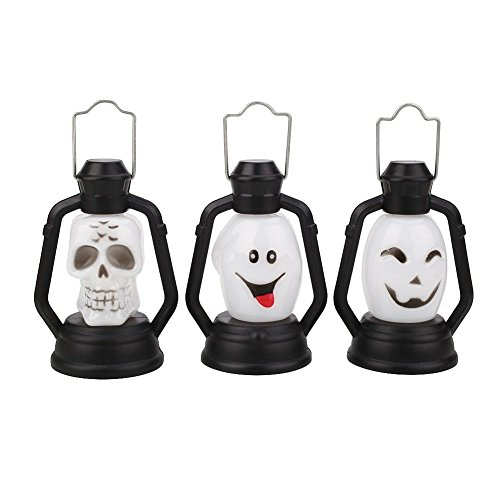 Hanbaili Halloween Luminous Lantern With Horror Sound Music And Props Night Light Decoration ()