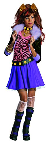 All Monster High Costumes (Monster High Clawdeen Wolf Costume - One Color - Medium)
