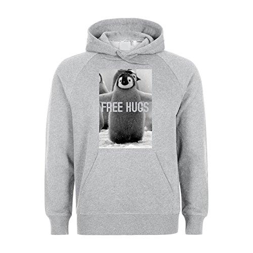 Free Hugs Cute Penguin Grey Unisex Hoodie