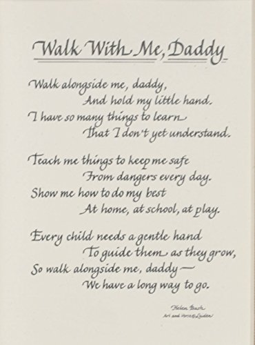 Walk With Me Daddy Picture Frame With Poem 8x10 Dad Gift
