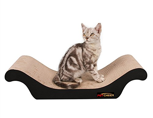 PetCheer Premium Cat Scratcher Scratching and Resting Pads Toy for Cats with Catnip by PetCheer